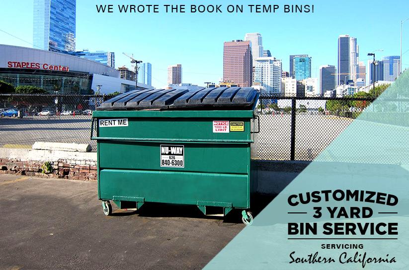 Dumpster Rentals in Los Angeles Orange County Nu Way Bin Rentals