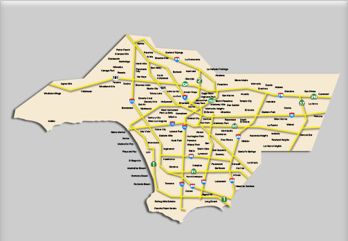 Service Area - Los Angeles County