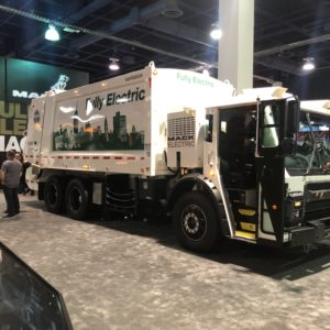 Mack Trucks has developed an Electric Rear Loader Trash Truck