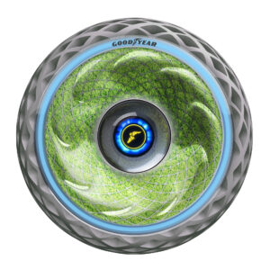 Goodyear concept tire cleans air as it rolls